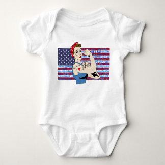 """Be Strong in Life"" Patriotic Women inspirational Baby Bodysuit"
