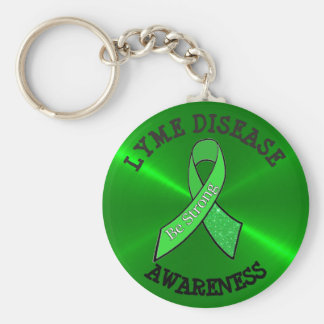 Be Strong Lyme Disease Awareness Key Chain