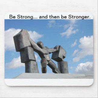 Be Strong Mousepad Samson Muscle Rock Man