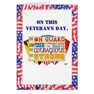 Be Strong Shield Custom Veteran's Day Card