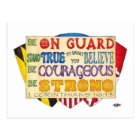 Be Strong Shield Inspirational Postcard