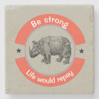 Be strong stone coaster