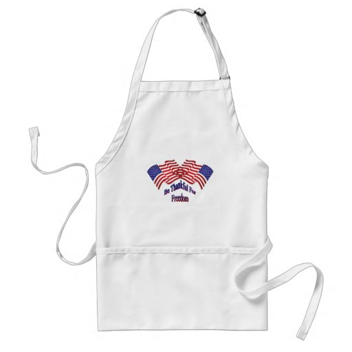 Be Thankful For Freedom Aprons