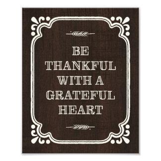 Be Thankful | Thanksgiving Art Print Photo Print