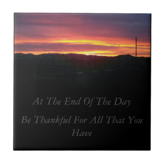 Be Thankful tile