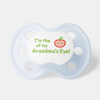 "Be the ""apple of Grandma's eye"" with these! Dummy"