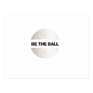 Be the Ball - golf Postcard