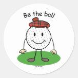Be the Ball Round Sticker
