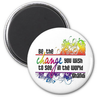 Be The Change 6 Cm Round Magnet