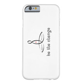 Be The Change - Black Fancy style Barely There iPhone 6 Case