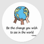 Be the Change Classic Round Sticker