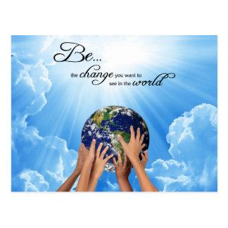 Be the Change - Gandhi Postcard