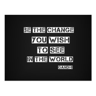 Be the Change Post Cards