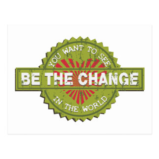 Be the Change Postcard