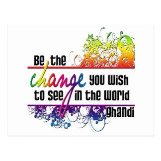 Be The Change Postcard
