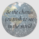 Be the change... stickers