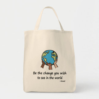 Be the change totebag