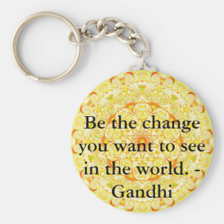 Be the change you want to see in the world. Gandi Basic Round Button Key Ring