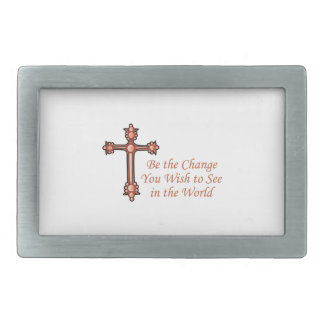 Be The Change You Wist To See In The World Rectangular Belt Buckle