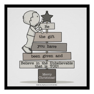 Be the Gift-Christmas Tree Poster