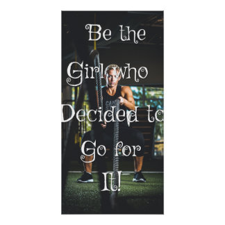 Be the girl... Motivational wall poster