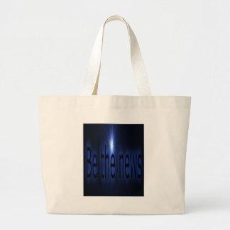 Be the news jumbo tote bag