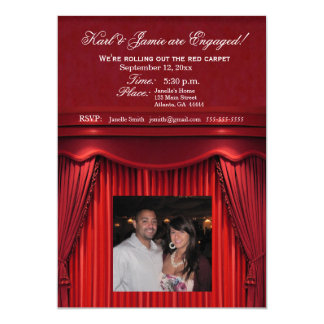 Be the stars in your own move theatre invitation! 13 cm x 18 cm invitation card