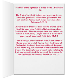 """Be the Tree"" Fruits of the Spirit Greeting Card"
