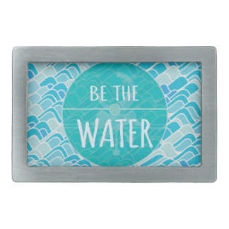 Be the water rectangular belt buckle
