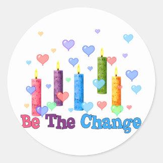 Be The  World Change Round Sticker