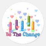 Be The  World Change Sticker