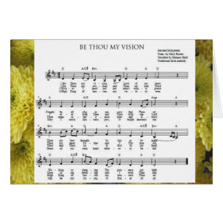 """Be Thou My Vision"" Notecard"