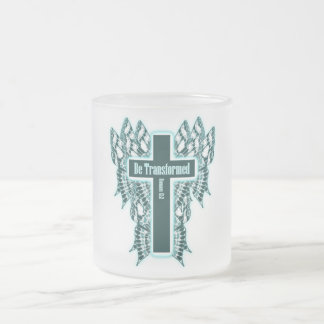 Be Transformed – Romans 12:2 Frosted Glass Mug