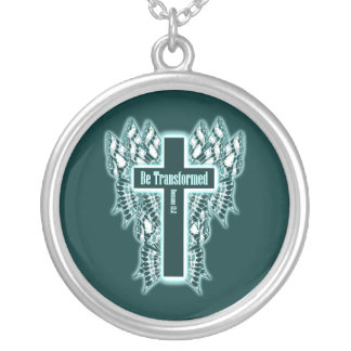 Be Transformed – Romans 12:2 Round Pendant Necklace