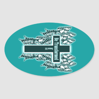 Be Transformed – Romans 12 2 Oval Stickers