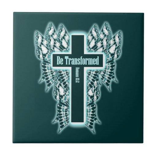Be Transformed – Romans 12:2 Ceramic Tile