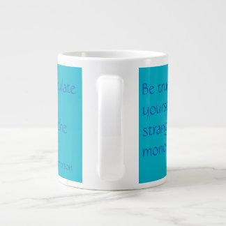 Be true to yourself jumbo mug