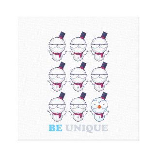 Be Unique Snowman Christmas Design Canvas Print