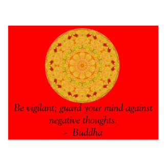 Be vigilant; guard your mind against negative..... postcard