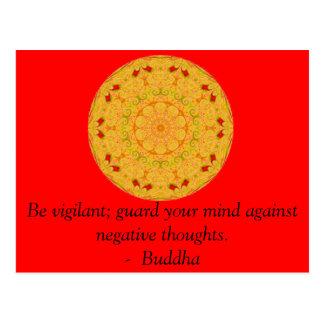 Be vigilant; guard your mind against negative..... postcard