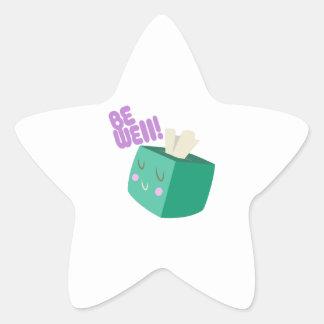 Be Well Star Sticker
