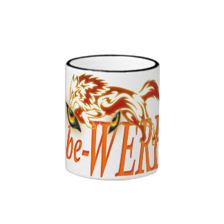 be-WERE Werewolf design Ringer Mug