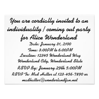 Be What You Would Seem To Be Alice Duchess Custom Invite