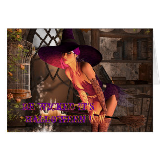 Be wicked it's Halloween Greeting Card