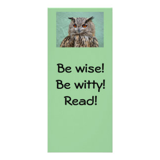 Be wise! Be witty! Read! Bookmark Customised Rack Card