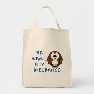 Be Wise Buy Insurance grocery tote
