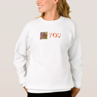 Be You Floral Art Girl's Sweatshirt