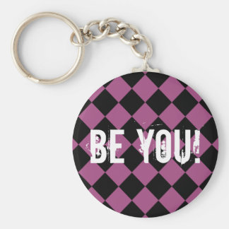 """""""Be You"""" for Teenage Girl Custom Basic Round Button Key Ring"""
