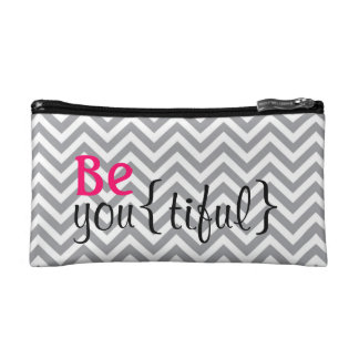 Be You(tiful) Beautiful Cosmetic Bag Chevron