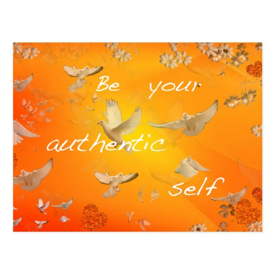 Be your authentic self postcard